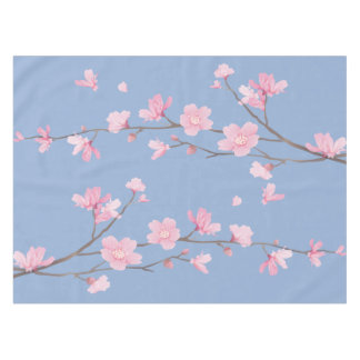 Cherry Blossom - Serenity Blue Tablecloth
