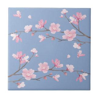 Cherry Blossom - Serenity Blue Tile