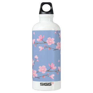 Cherry Blossom - Serenity Blue Water Bottle