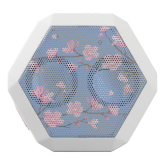 Cherry Blossom - Serenity Blue White Bluetooth Speaker