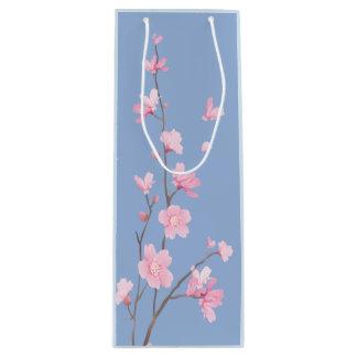 Cherry Blossom - Serenity Blue Wine Gift Bag