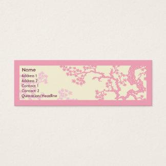 Cherry Blossom - Skinny Mini Business Card