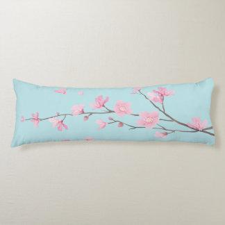 Cherry Blossom - Sky Blue Body Pillow