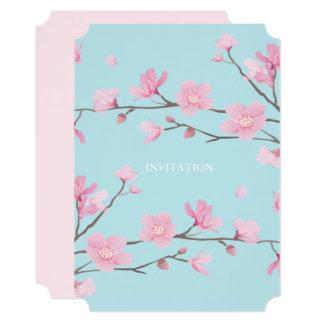 Cherry Blossom - Sky Blue Card