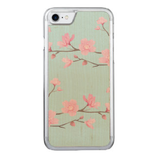 Cherry Blossom - Sky Blue Carved iPhone 8/7 Case