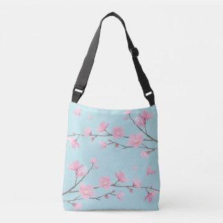 Cherry Blossom - Sky Blue Crossbody Bag