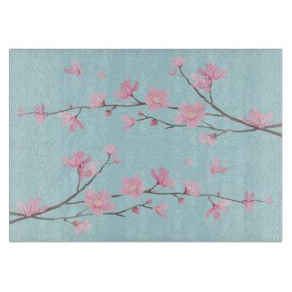 Cherry Blossom - Sky Blue Cutting Board