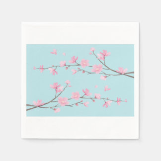 Cherry Blossom - Sky Blue Disposable Napkin