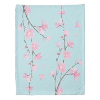 Cherry Blossom - Sky Blue Duvet Cover