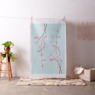 Cherry Blossom - Sky Blue Fabric