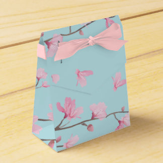 Cherry Blossom - Sky Blue Favor Box