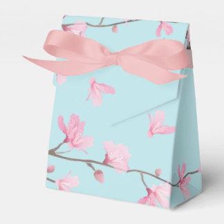 Cherry Blossom - Sky Blue Favor Boxes
