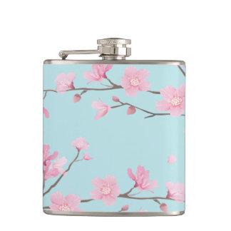 Cherry Blossom - Sky Blue Flask