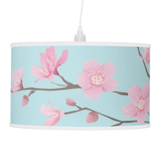 Cherry Blossom - Sky Blue Hanging Lamp