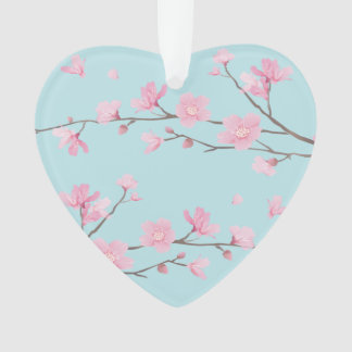 Cherry Blossom - Sky Blue - HAPPY ANNIVERSARY Ornament