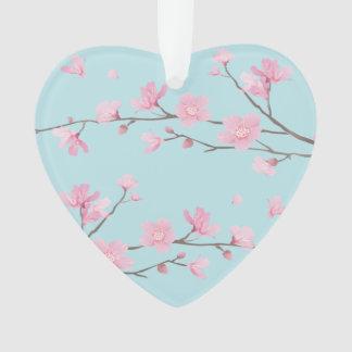 Cherry Blossom - Sky Blue - HAPPY ANNIVERSARY Ornament