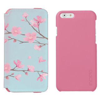 Cherry Blossom - Sky Blue Incipio Watson™ iPhone 6 Wallet Case