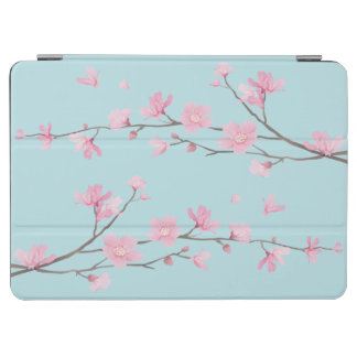 Cherry Blossom - Sky Blue iPad Air Cover