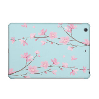Cherry Blossom - Sky Blue iPad Mini Cover