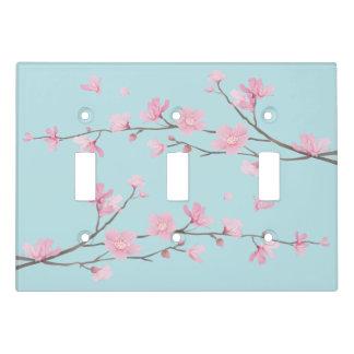 Cherry Blossom - Sky Blue Light Switch Cover