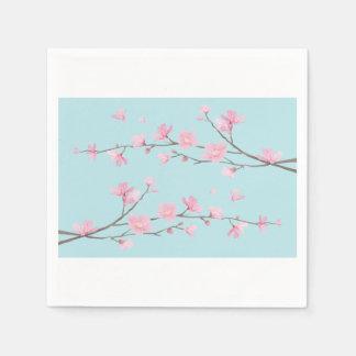 Cherry Blossom - Sky Blue Napkin