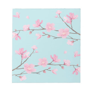 Cherry Blossom - Sky Blue Notepad