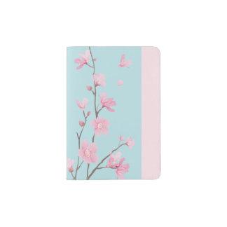 Cherry Blossom - Sky Blue Passport Holder