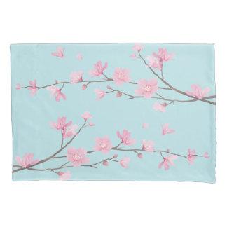 Cherry Blossom - Sky Blue Pillowcase