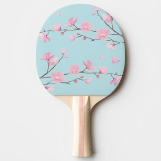 Cherry Blossom - Sky Blue Ping-Pong Paddle