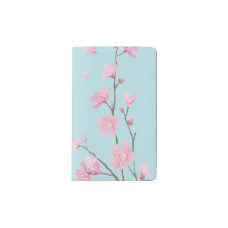 Cherry Blossom - Sky Blue Pocket Moleskine Notebook