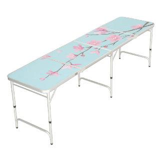 Cherry Blossom - Sky Blue Pong Table