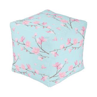 Cherry Blossom - Sky Blue Pouf