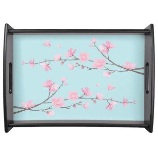 Cherry Blossom - Sky Blue Serving Tray