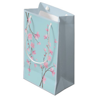 Cherry Blossom - Sky Blue Small Gift Bag