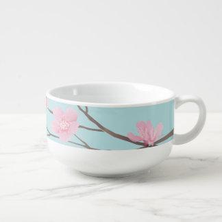 Cherry Blossom - Sky Blue Soup Mug