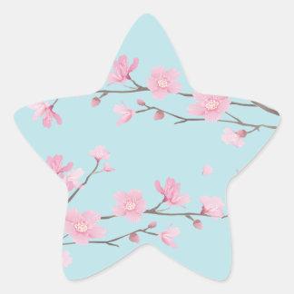 Cherry Blossom - Sky Blue Star Sticker