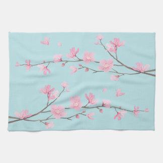 Cherry Blossom - Sky Blue Towels