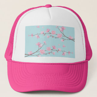 Cherry Blossom - Sky Blue Trucker Hat