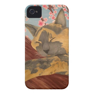 Cherry Blossom Sleeping Cat Case-Mate iPhone 4 Case