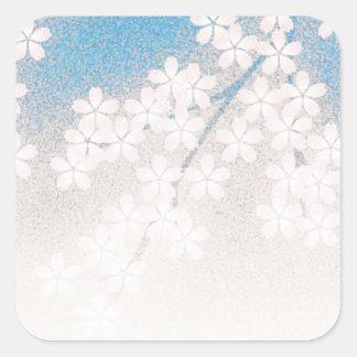 Cherry Blossom Square Sticker