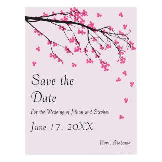 Cherry Blossom Stem - Save the Date Postcard