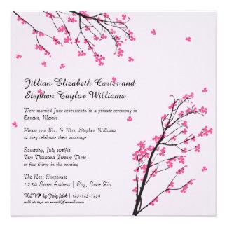 Cherry Blossom Stem - Wedding Announcement