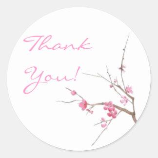 Cherry Blossom Thank You Sticker