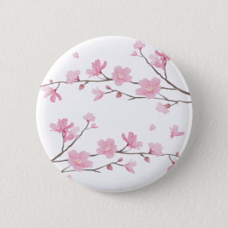 Cherry Blossom - Transparent-Background 2 Inch Round Button