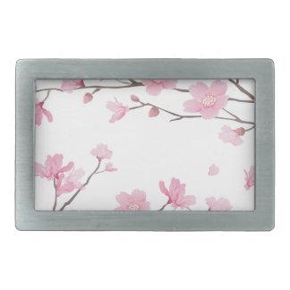 Cherry Blossom - Transparent-Background Belt Buckles