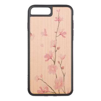 Cherry Blossom - Transparent Background Carved iPhone 8 Plus/7 Plus Case