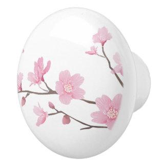 Cherry Blossom - Transparent Background Ceramic Knob