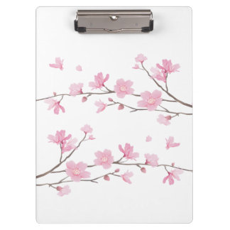 Cherry Blossom - Transparent Background Clipboard