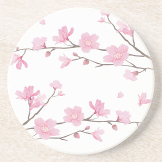 Cherry Blossom - Transparent-Background Coaster