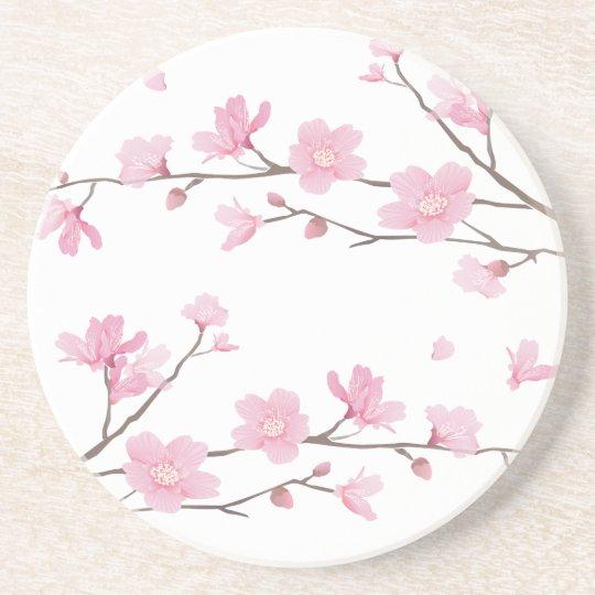 Cherry Blossom - Transparent-Background Coaster